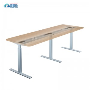 height adjustable office conference electric table PST35TT-ET2-180°