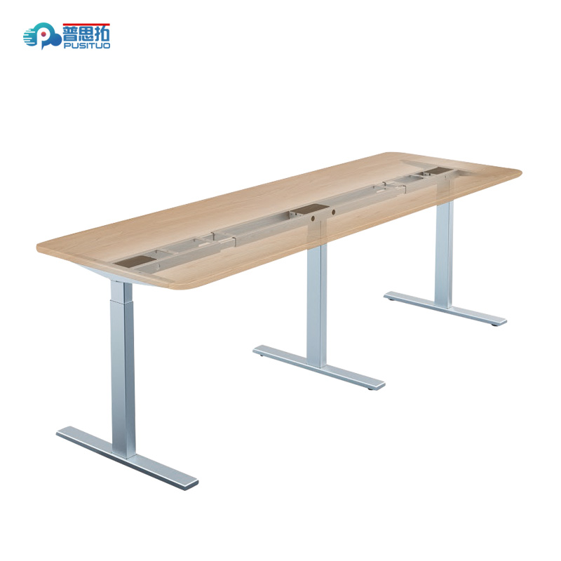height adjustable office conference electric table PST35TT-ET2-180° Featured Image
