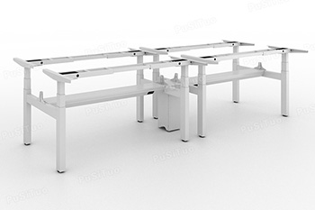 intelligent height adjustable desk for four PST35TF-ET3